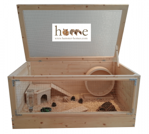 90cm Single Level Hamster Home with Corner House - Branded