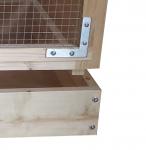 Frame slots into base close up