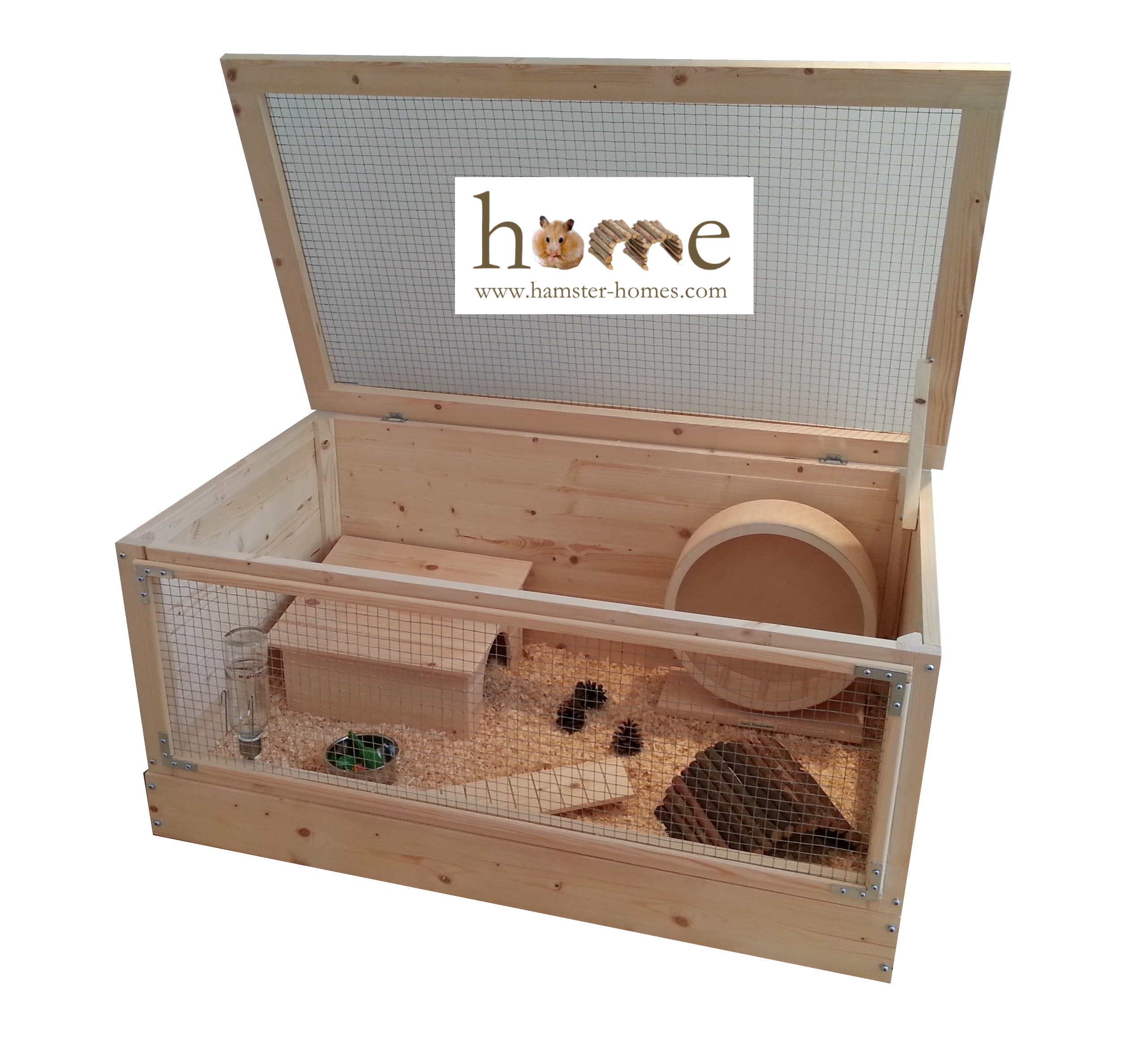 Wooden Hamster Cage Extra Large 90cm Made In The Uk