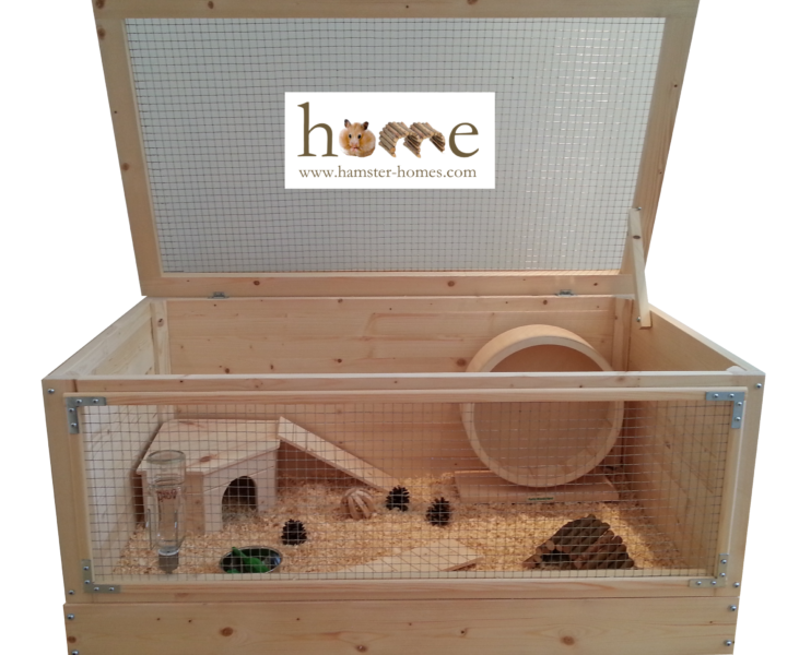 90cm Single Level Hamster Home with Corner House – Branded