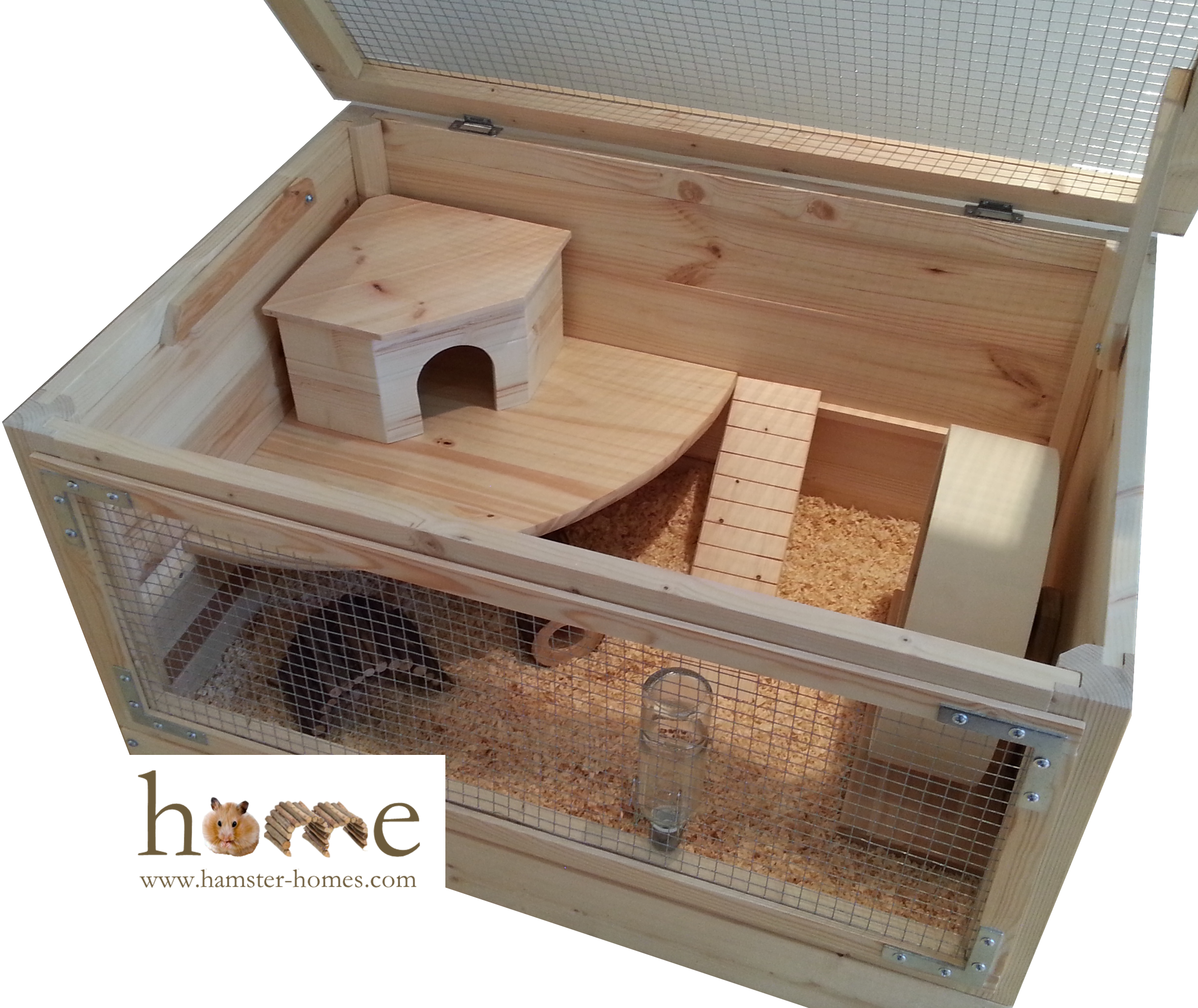 Large 80cm x 50cm natural wooden hamster cage for Guinea pig cage made from bookshelf