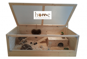Large Indoor Wooden Guinea Pig Cage with Roof