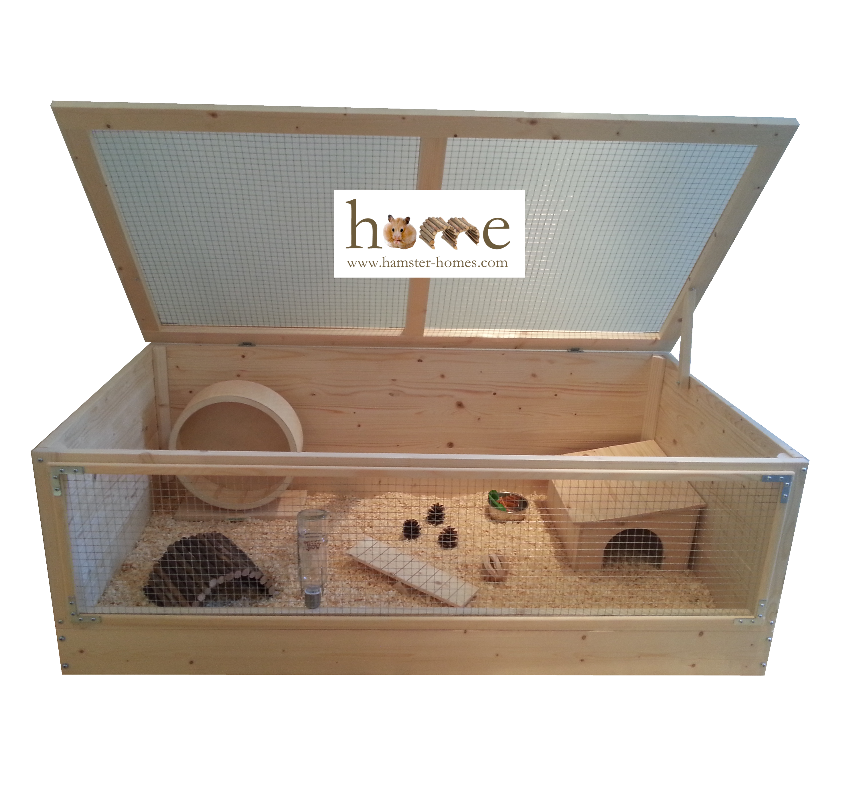 Super large 120cm x 60cm wooden cage for small pets for Wooden guinea pig cage