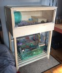 90cm Hedgehog Home & Custom Double Height Stand to fit Gerbil Cage