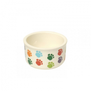 Pet Brands Small Animal Paw Print Ceramic Dish 8cm x 5cm