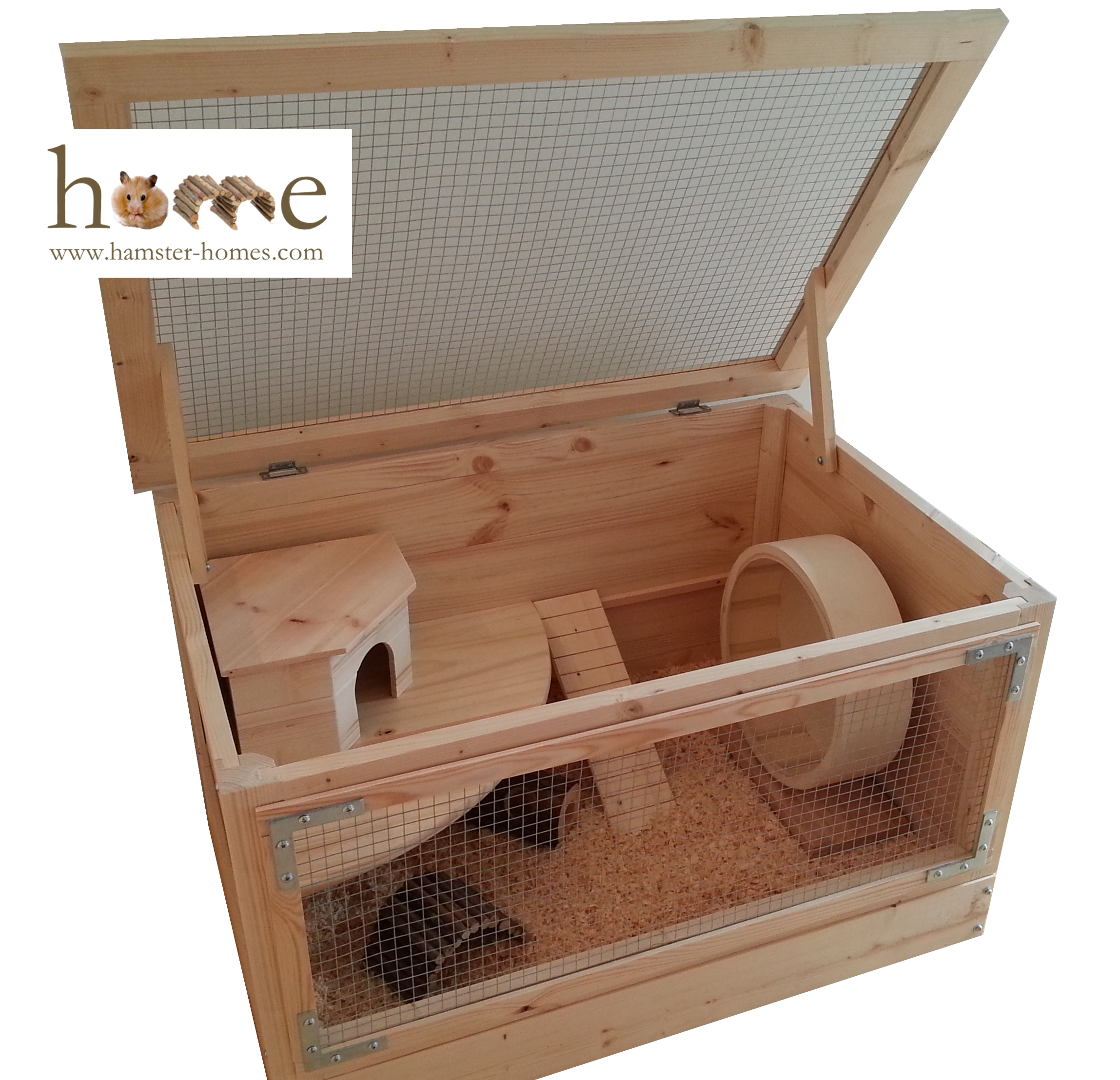 Large Wooden Hamster Cage 80 Cm X 50 Cm High Quality
