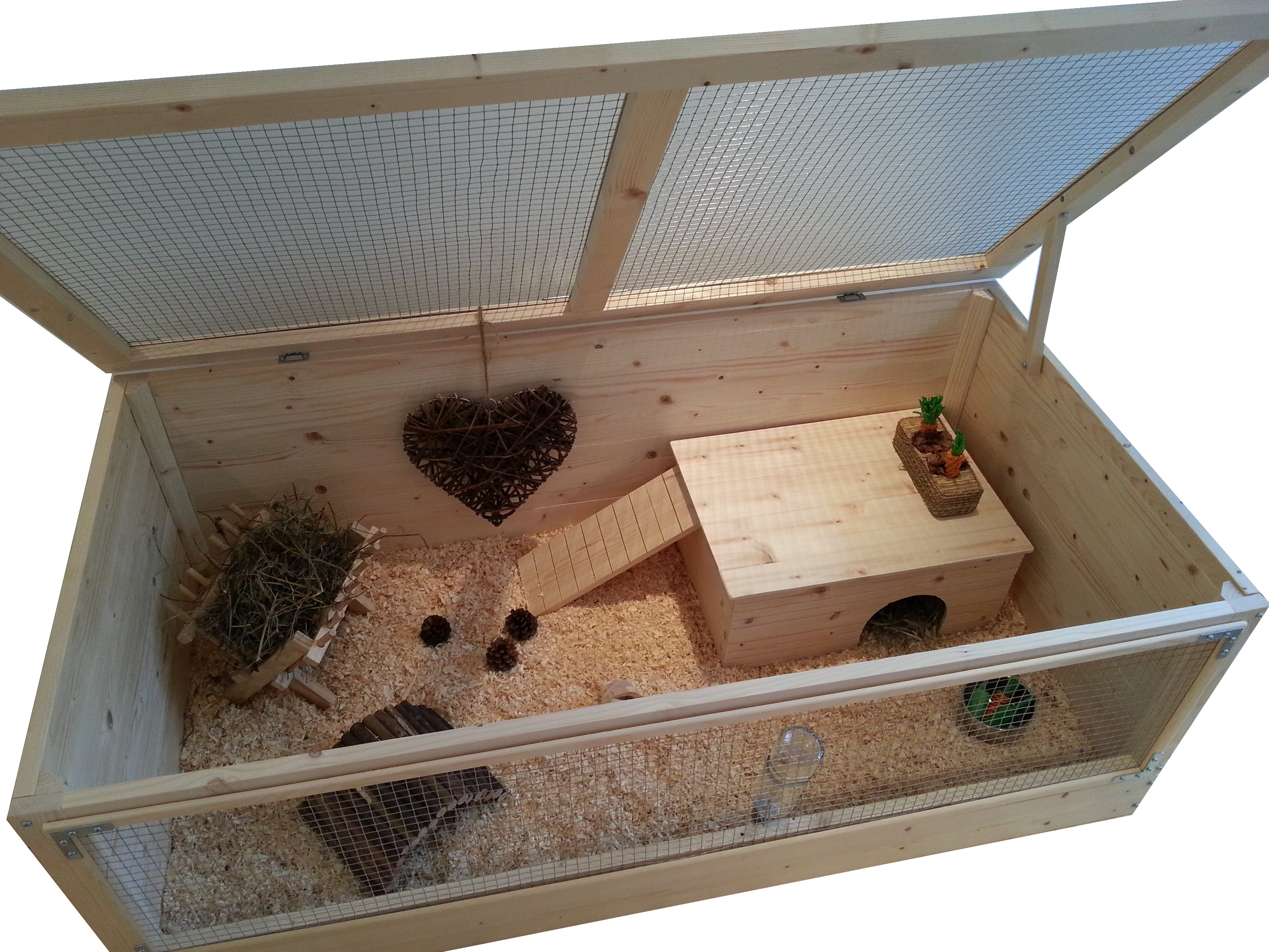 super large wooden guinea pig cage with roof 120 x 60cm