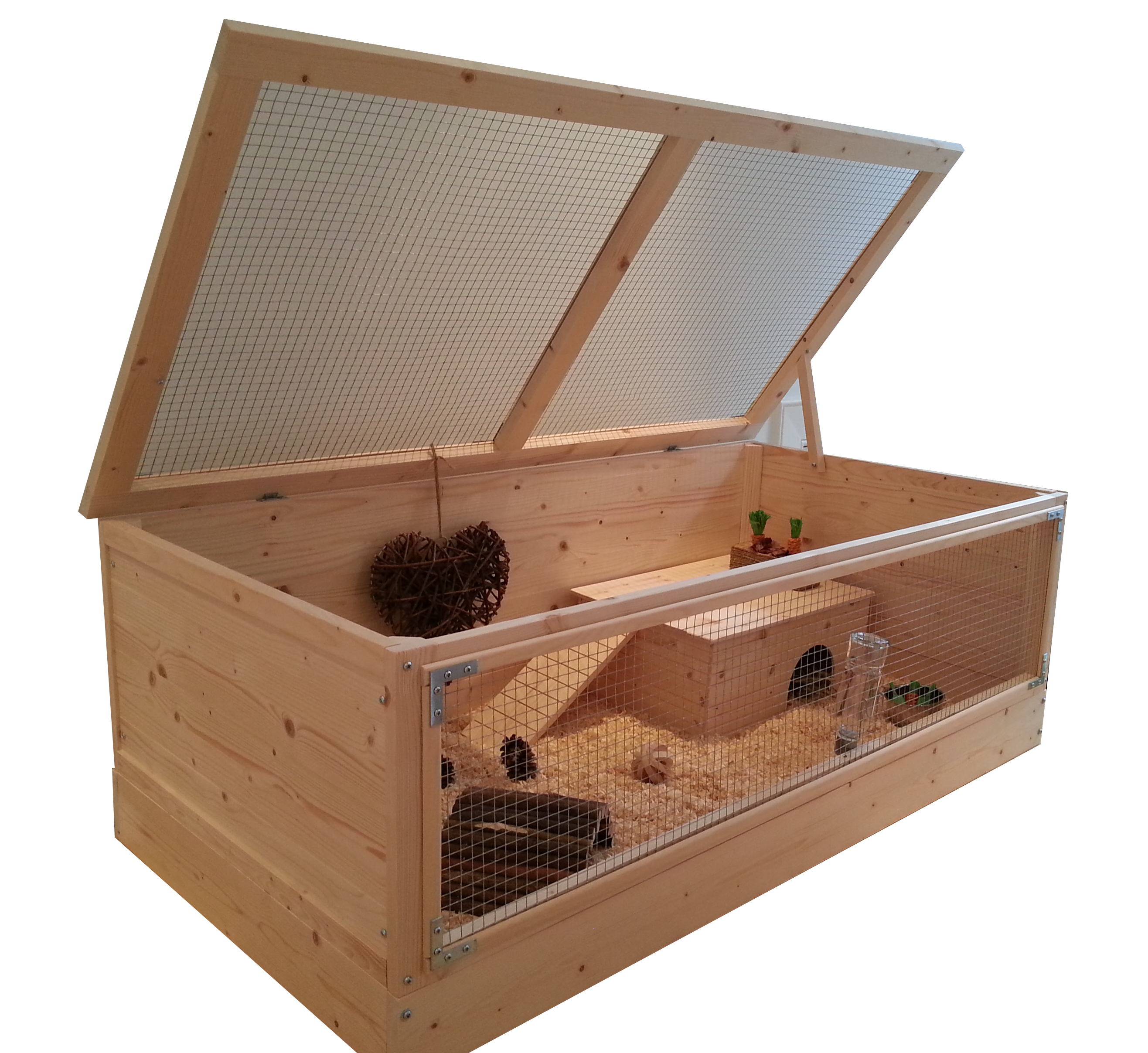 Super large wooden guinea pig cage with roof 120 x 60cm for Wooden guinea pig cage