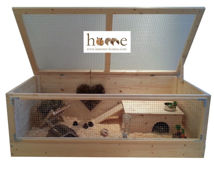 120cm Guinea Pig Home – with logo