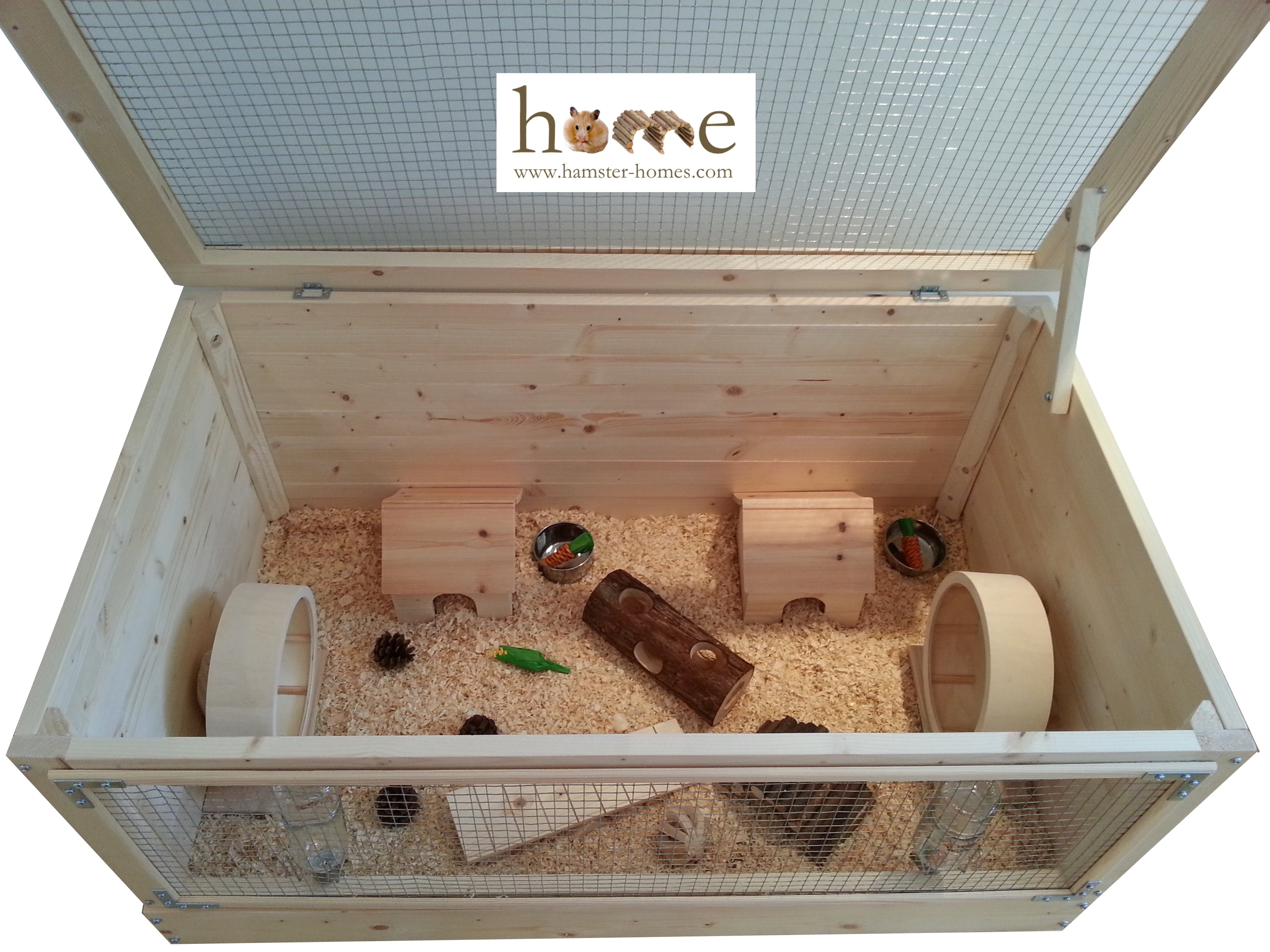 Wooden Hamster Cage - Extra Large 90cm - Made in the UK