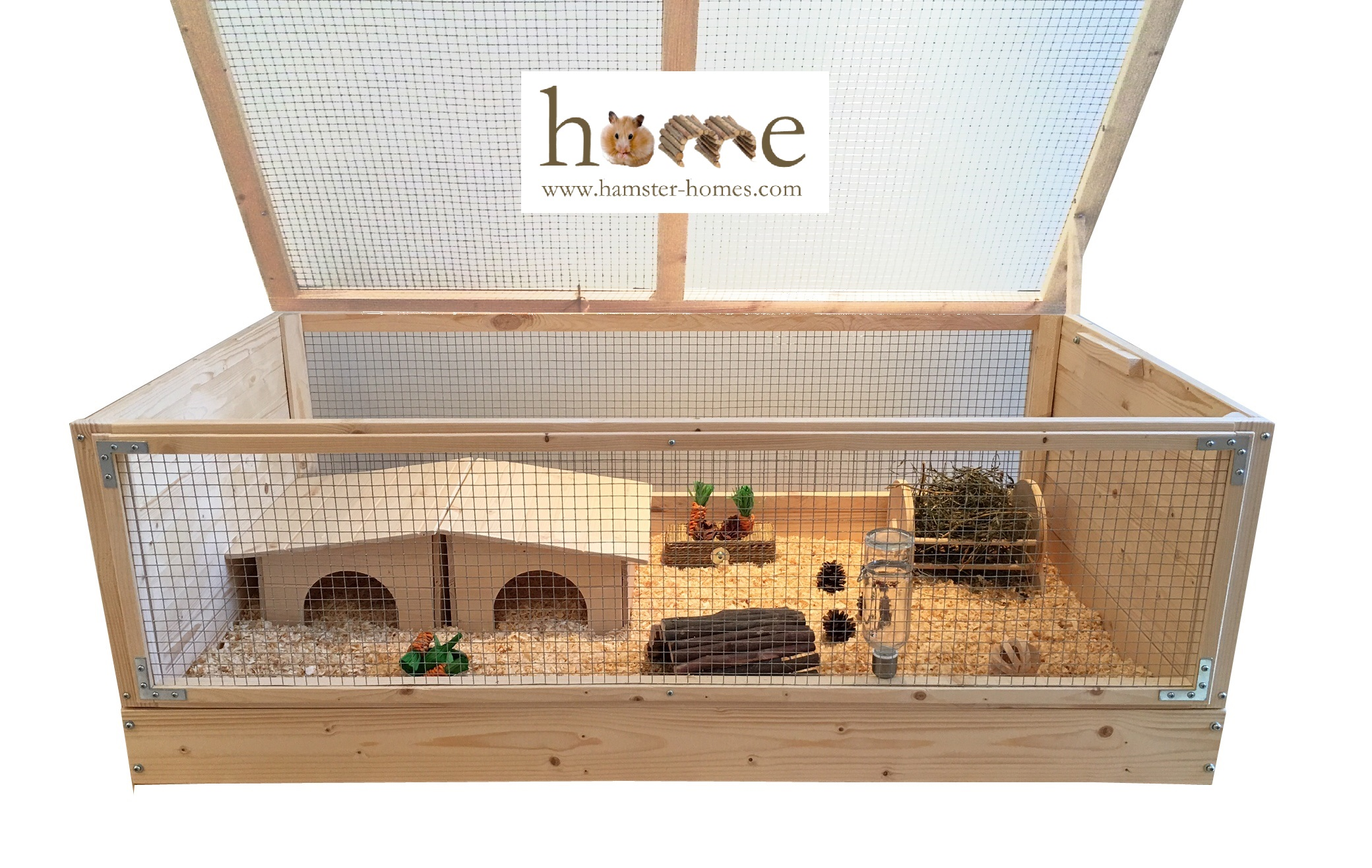 Super large 120x60cm natural wood guinea pig cage for Wooden guinea pig cage