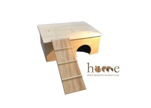 Guinea Pig House with Platform Roof and Ladder