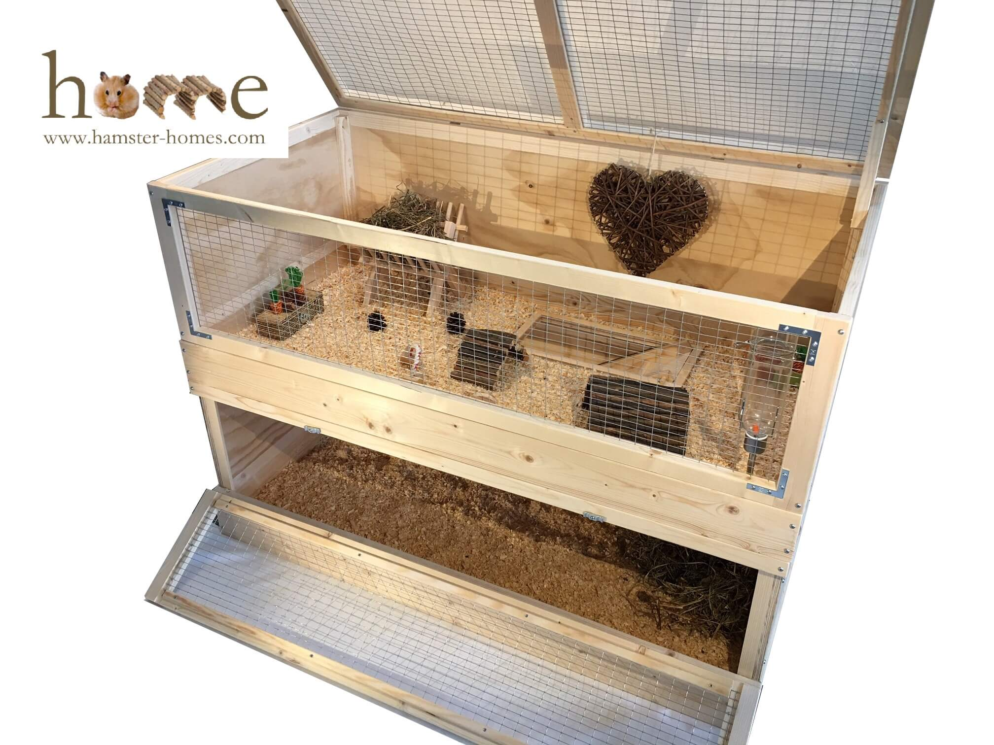 2 tier guinea pig cage – Angle view