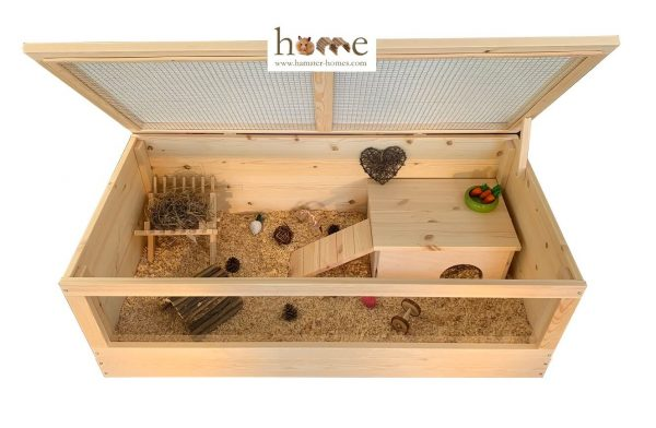 120x60cm Guinea Pig Home with Roof - Interior