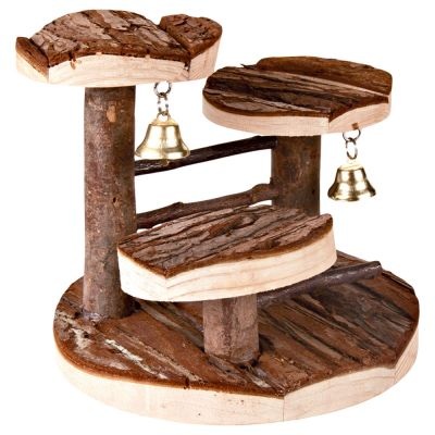 Wooden Climbing Frame with Bell for Hamsters Mice Gerbils